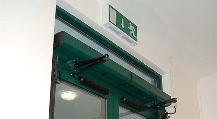 Running man emergency exit