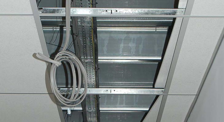 Running wires in cable trays