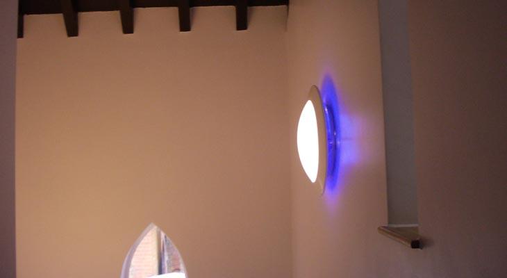 Blue neon rear reflectors