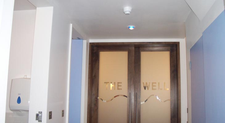 Lobby entrance to The Well