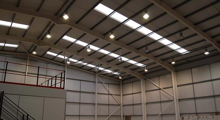 High bay lighting installation in Croydon