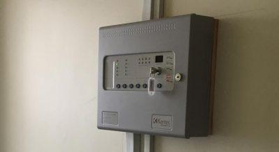 Domestic fire alarm unit