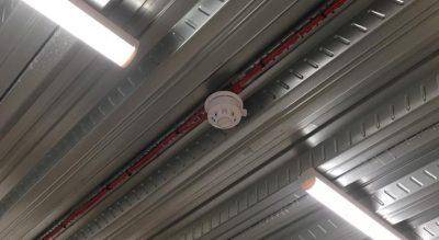 Smoke detector with batten lighting