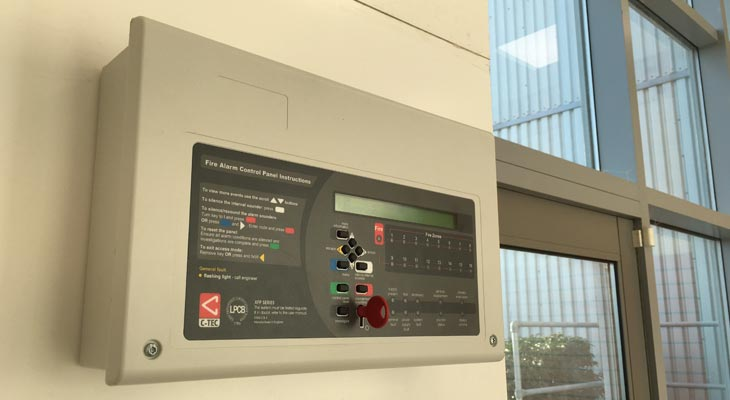 Addressable fire alarm system control panel
